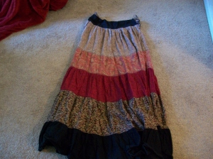 Gypsy skirt as of a year ago