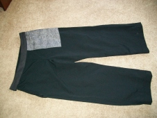 Inside-out, showing in-seam pocket and waistband lining