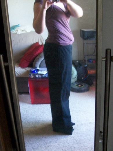 Side view of slacks